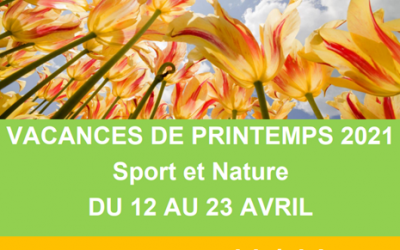 VACANCES PRINTEMPS 2021 – Accueil Jeunes 11/14 ans
